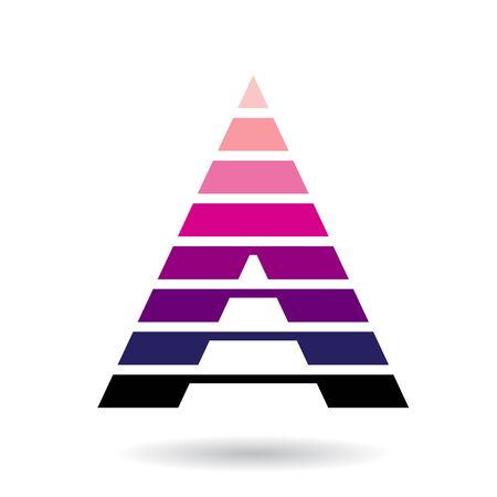 Drawing design Concept of a Colorful Abstract Triangular Icon of Letter A, Vector Illustration