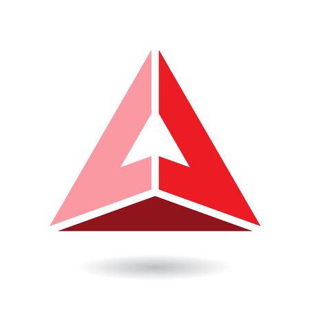Design Concept of a Colorful Abstract Triangular Icon of Letter A, Vector Illustration