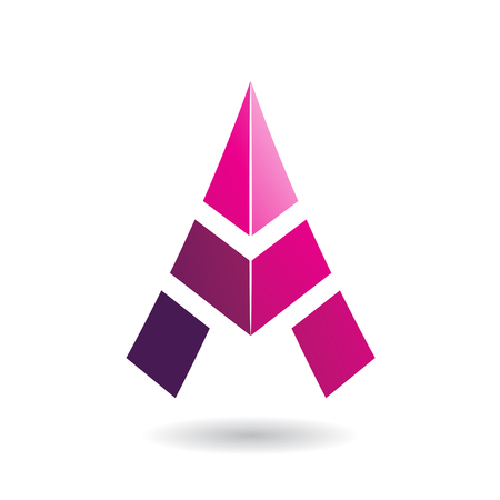 icon vector: Design Concept of a Colorful Abstract Triangular Icon of Letter A, Vector Illustration