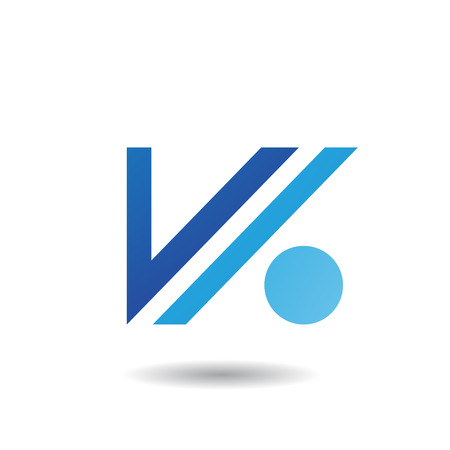 rectangle: Design Concept of Letter V and Dot Icon, Vector Illustration Isolated on a White Background