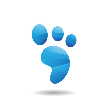 black: Design Concept of an Animal Footprint Icon, Vector Illustration Isolated on a White Background