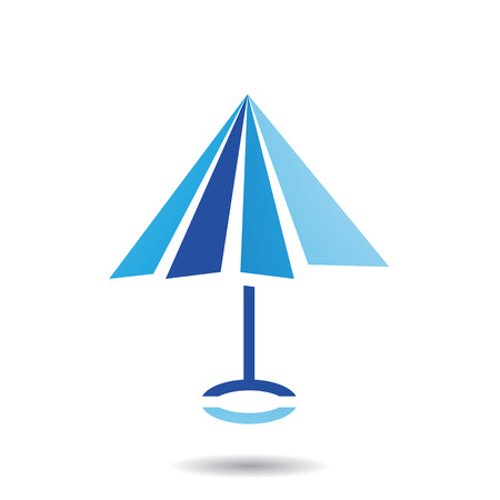 Design Concept of Umbrella Shaped Icon, Vector Illustration Isolated on a White Background
