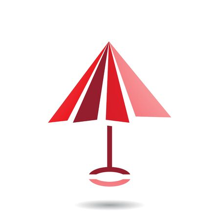 Design Concept of Umbrella Shaped Icon, Illustration Isolated on a White Background