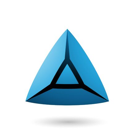 Illustration of Blue and Bold 3d Triangle isolated on a white background