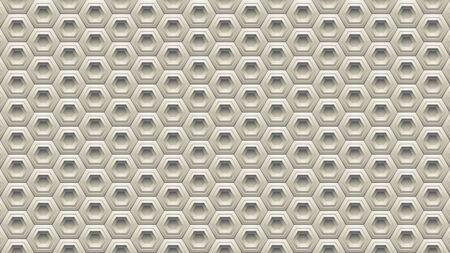 Illustration of Beige Embossed Hexagon Background