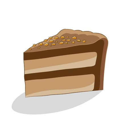 Illustration of Cake Icon on a White Background