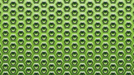 Illustration of Green and Black Embossed Hexagon Background