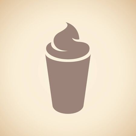 Illustration of Brown Milkshake Icon isolated on a Beige Background