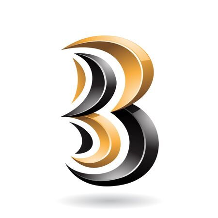 Design Concept of a Colorful Abstract Icon of Letter B, Illustration 스톡 콘텐츠