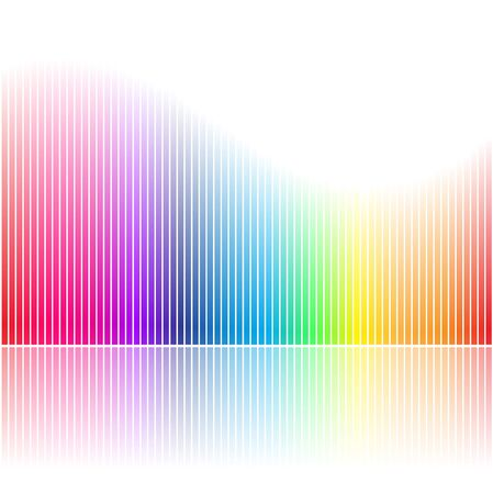 Illustration of Abstract Rainbow Colored Bars isolated on a White Background Stock Photo