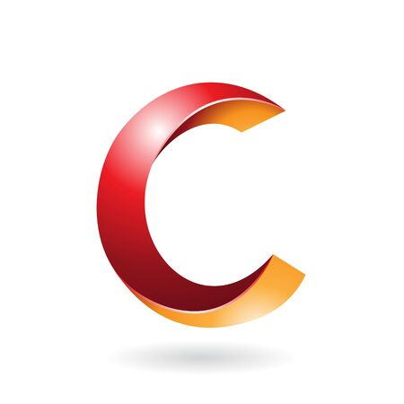 Design Concept of a Abstract Icon of Letter C, Illustration 스톡 콘텐츠