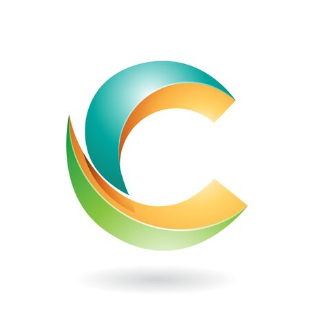 Design Concept of a Abstract Icon of Letter C, Illustration Stock Photo