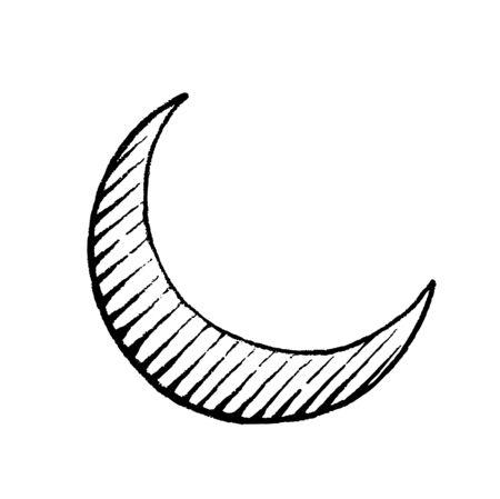 Illustration of a Scratchboard Style Ink Drawing of Moon Reklamní fotografie