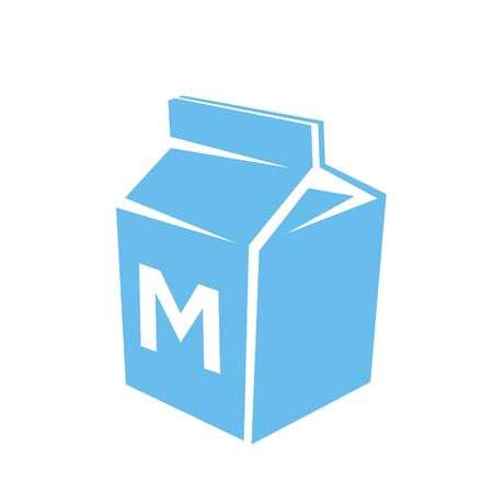 Illustration of Blue Milk Icon isolated on a White Background