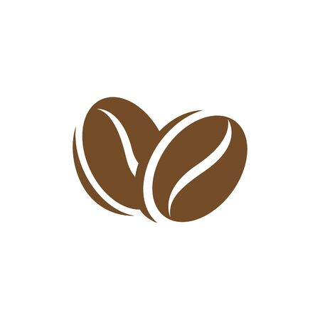Illustration of Brown Coffee Beans Icon isolated on a White Background