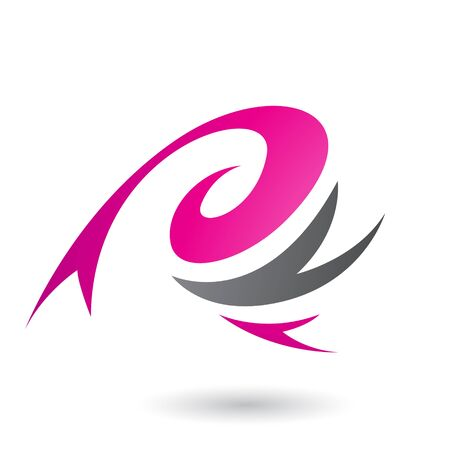 Illustration of Magenta Abstract Wind and Twister Shape isolated on a White Background