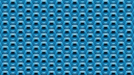 Illustration of Blue Embossed Hexagon Background Stockfoto - 129971642