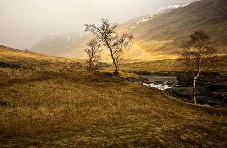 Scottish Highlands Glen Etive river near Beinn Mhic Chasgaig photo