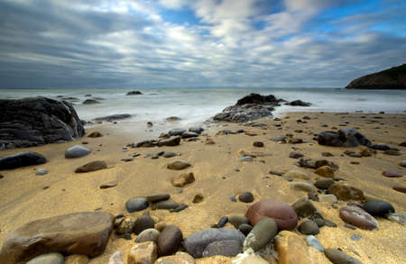 beach wrap: The Mumbles  Wales Stock Photo