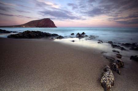 canary island: Sunset La Tejita beach Tenerife, Canary Island, Spain