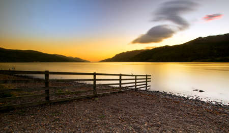 loch ness: Loch Ness scottish sunrise   Highlands Scotland UK Stock Photo