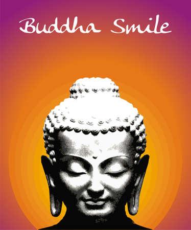Buddha smile illustration. file available. Stock Illustration - 4763429