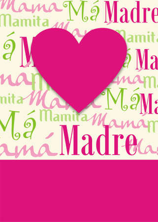 mom and dad: computer generated illustration background of a gretting card for the mother´s day. format available