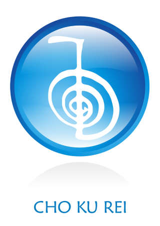 Reiki Symbol rounded with a blue circle. file available. Stock Photo - 4763466