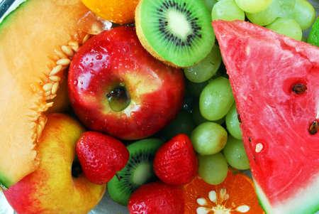bannana: Colorful fresh group of fruits.