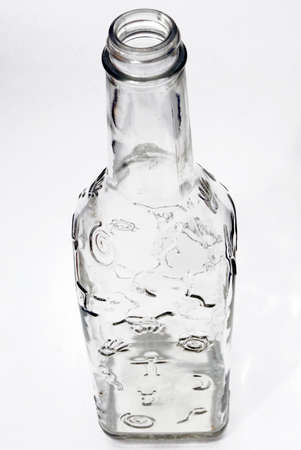 resourse: glass bottle with forms and signs above