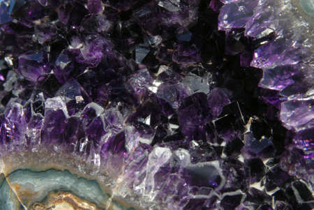 valuables: close-up shot of an amethyst