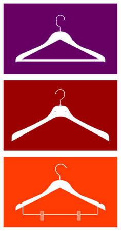 Drie kleer hangers. Vector beschikbaar