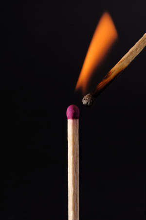 One match causes another to catch alight photo