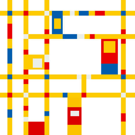 divide: mondrian inspired vibrant colors background