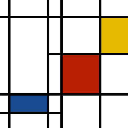 Mondrian inspirée d'arrière-plan des couleurs vibrantes