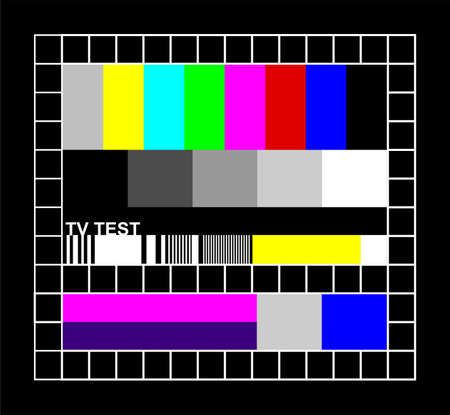Television colored graphic signal. Test signal at the introduction and the end of the TV programming. photo