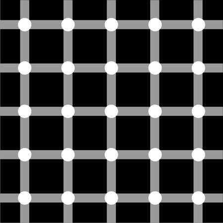 arte optico: Red de arte �ptico en negro y gris con puntos blancos