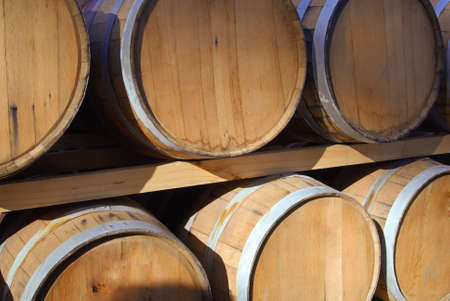 Barrels of wine in storage. photo