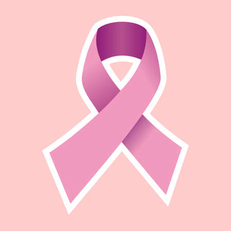 Pink Breast Cancer Ribbon. Vector file Vector