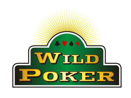Casino Poker icons on green banner. White background. Vector illustration Stock Vector - 5847568