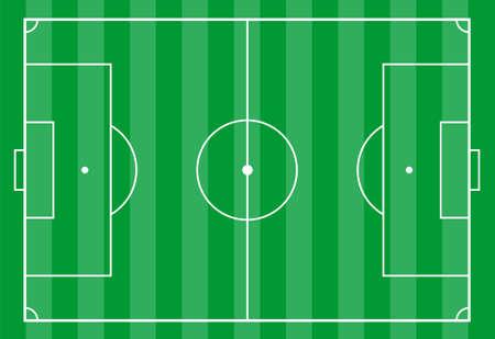 futbol: Un campo di calcio, vista superiore.