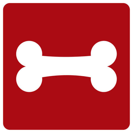 white bone on red background 矢量图片