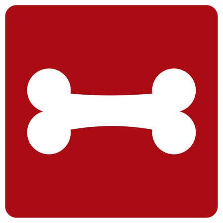 witte bot op rode achtergrond Vector Illustratie