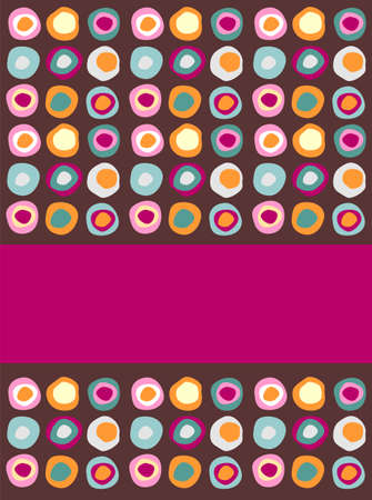 sequential: Multicolored dots background following a sequential pattern with a purple band for insert your own text label.