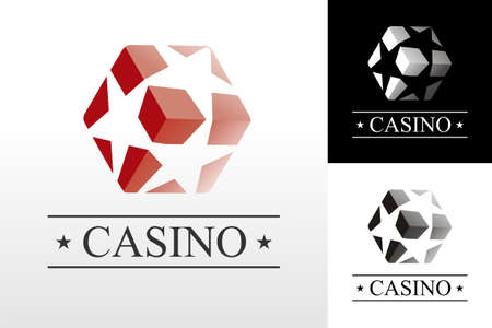 ace of diamonds: Red craps logo on white background. Vector available Illustration