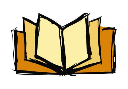 Aufgeschlagenes buch gezeichnet  Aufgeschlagenes Buch Lizenzfreie Vektorgrafiken Kaufen: 123RF