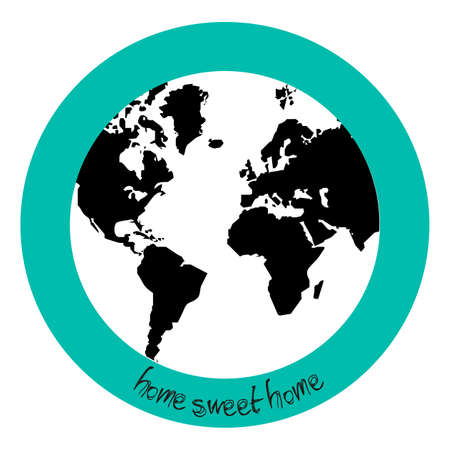 advise: Advise with Planet earth and the home sweet home legend  Illustration