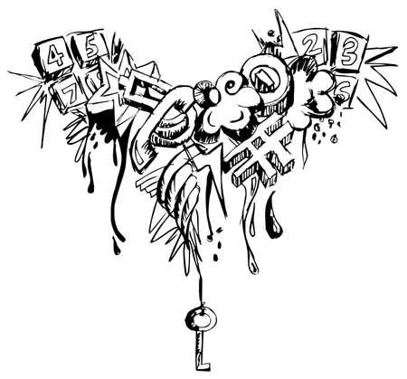 Black and white grunge grafitti Stock Vector - 6933269