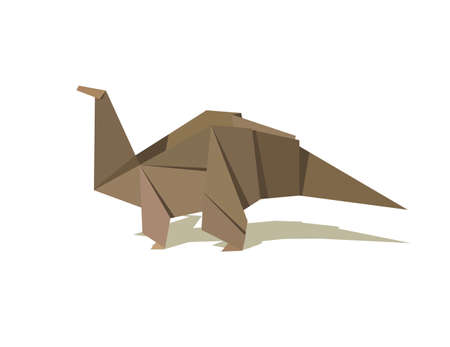 One Origami brown colors dinosaur. Vector file available. Stock Vector - 7423790