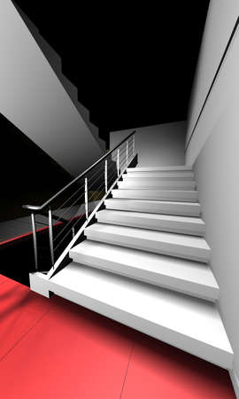 Stairway to cognition (to heaven).3D rendering for brochure and WEB design. photo
